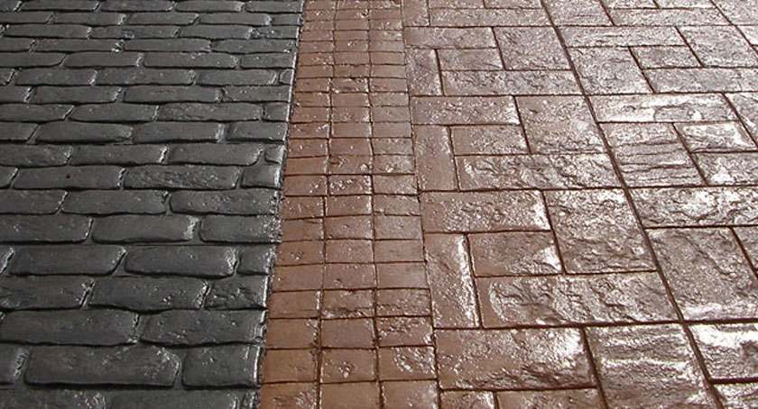 Aplicaci n de barniz en el hormig n impreso durasil for Suelo cemento impreso