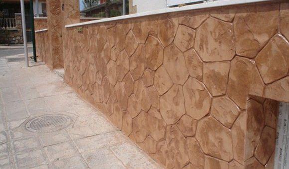 El hormigón impreso en paredes • Durasil