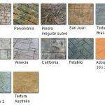 Tipos de moldes para hormigón impreso