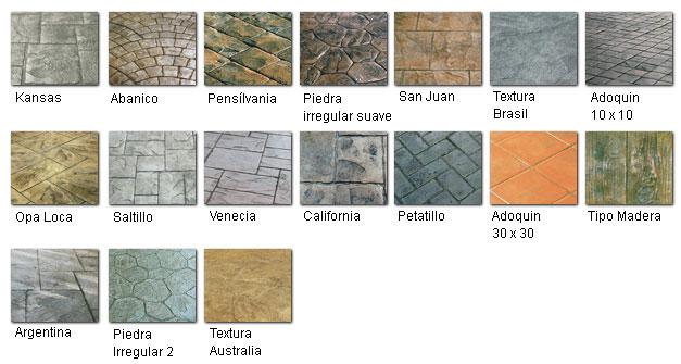 Tipos de moldes para hormig n impreso durasil - Clases de pavimentos ...